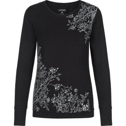 Dámské bavlněné triko LOAP Adestroma černá