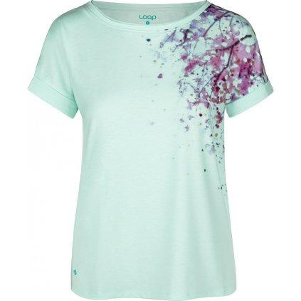 Dámské bavlněné triko LOAP Alyssa modrá