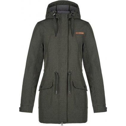 Dámský softshellový kabát LOAP Lynette khaki
