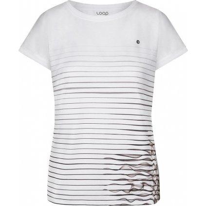 Dámské bavlněné triko LOAP Alwe bílá