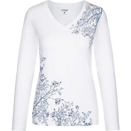 Dámské bavlněné triko LOAP Addie bílá