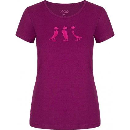 Dámské bavlněné triko LOAP Adrin fialová