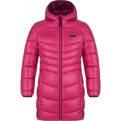 Dětský zimní kabát LOAP Inka růžová