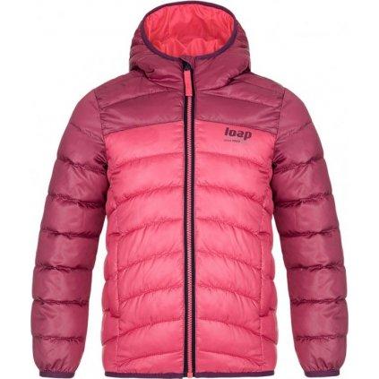 Dětská zimní bunda LOAP Inbelo růžová