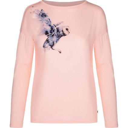 Dámské bavlněné triko LOAP Alaba růžová