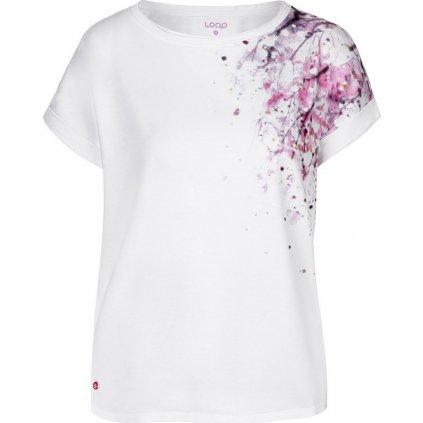 Dámské bavlněné triko LOAP Alyssa bílá