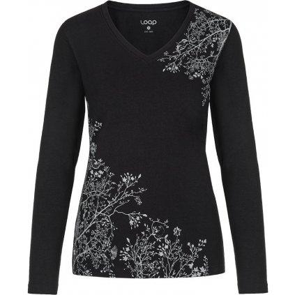 Dámské bavlněné triko LOAP Addie černá