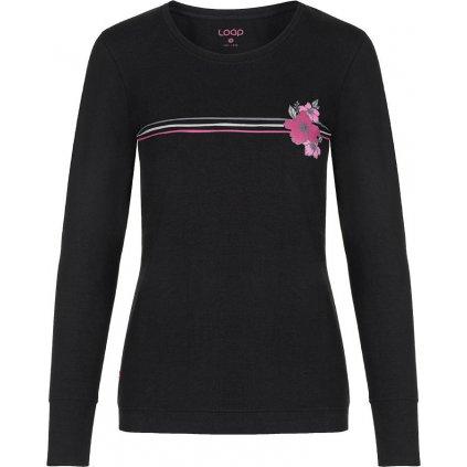 Dámské bavlněné triko LOAP Adema černá