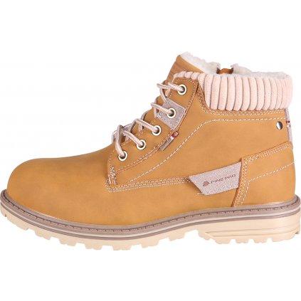 Dětská zimní obuv ALPINE PRO Newhaleno žlutá