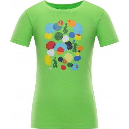 Dětské bavlněné triko ALPINE PRO Axiso 3 zelená
