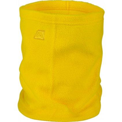 Hřejivá šála/roura ALPINE PRO Achille žlutá
