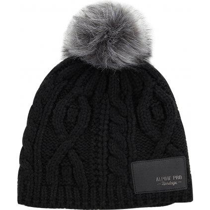 Zimní čepice ALPINE PRO Garbine černá