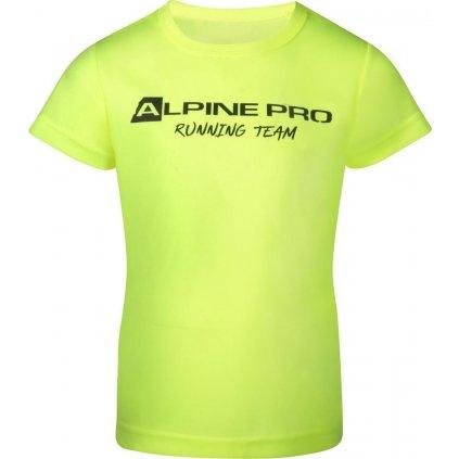 Dětské funkční triko ALPINE PRO Runno žlutá
