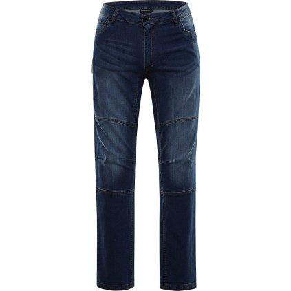 Pánské bavlněné džínové kalhoty ALPINE PRO Chizob modrá