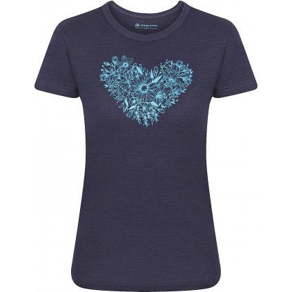 Dámské bavlněné triko ALPINE PRO Aliana modrá