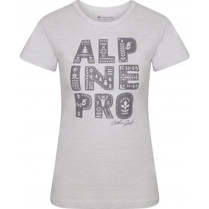 Dámské bavlněné triko ALPINE PRO Aliana bílá