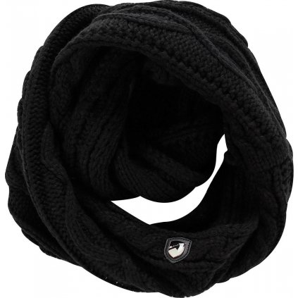 Pletená šála ALPINE PRO Gozone černá