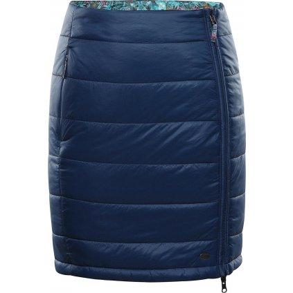 Dámská oboustranná sukně ALPINE PRO Trinity 7 modrá/tyrkysová