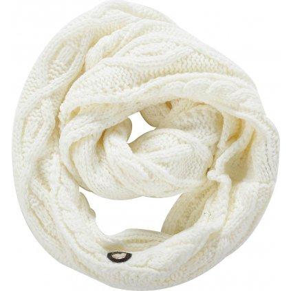 Pletená šála ALPINE PRO Gozone bílá