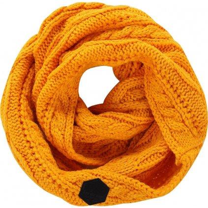 Pletená šála ALPINE PRO Gozone oranžová