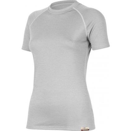 Dámské merino triko LASTING Alea šedá