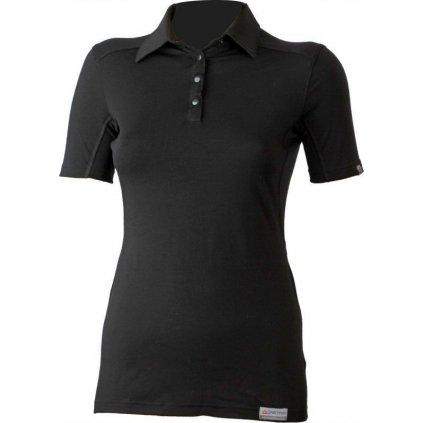Dámská merino polo košile LASTING Alisa černá