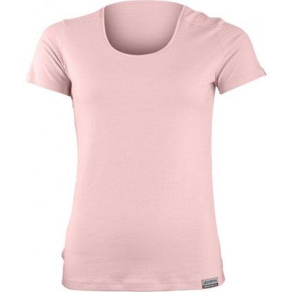 Dámské merino triko LASTING Irena růžová