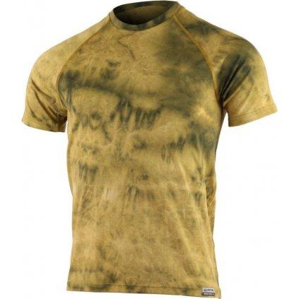 Pánské merino triko LASTING Bukas žluté