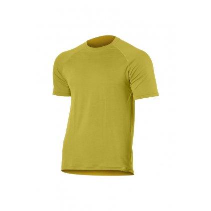 Pánské merino triko LASTING Quido hořčicové