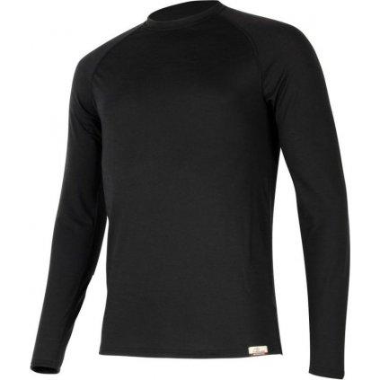 Pánské merino triko LASTING Atar černé