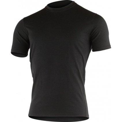 Pánské merino triko LASTING Lamar černé