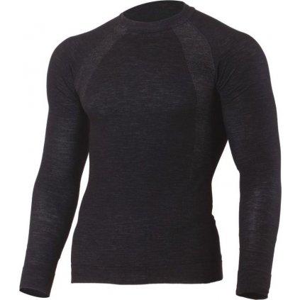 Pánské merino triko LASTING Wapol černé