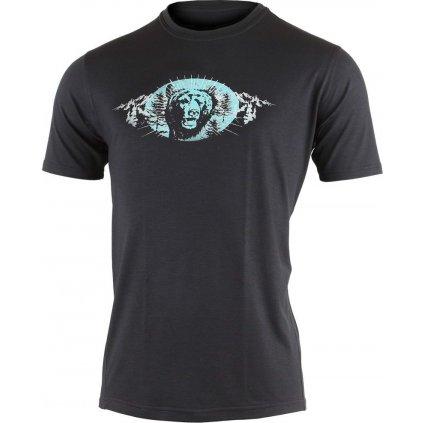 Pánské merino triko LASTING  Jimi černé