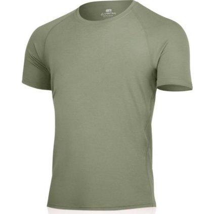 Pánské merino triko LASTING Quido zelené
