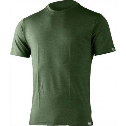 Pánské merino triko LASTING Chuan zelené