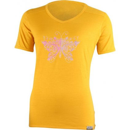 Dámské merino triko LASTING Manuela žlutá