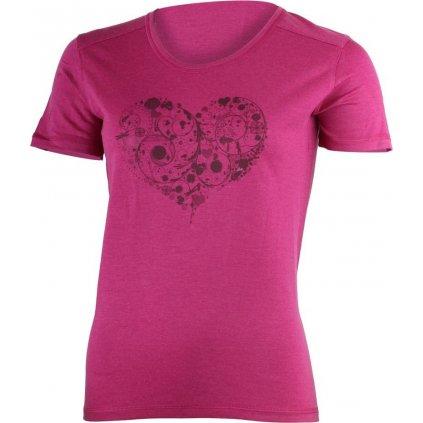 Dámské merino triko LASTING Livie růžová