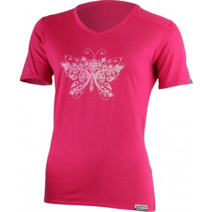 Dámské merino triko LASTING Manuela růžová