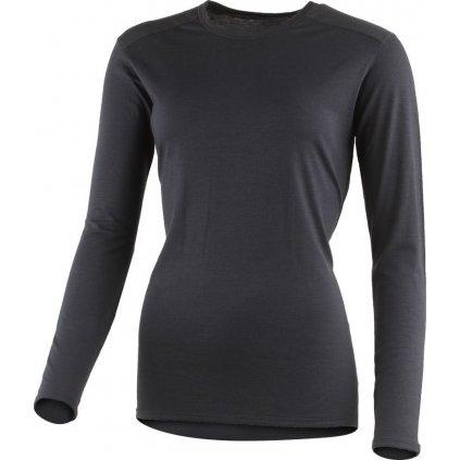 Dámské merino triko LASTING Elena černá