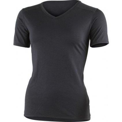 Dámské merino triko LASTING Etna černá