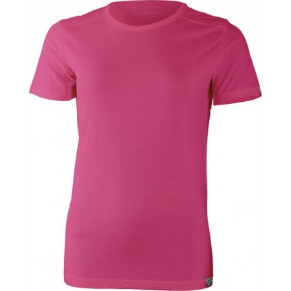 Dámské merino triko LASTING Evra růžová