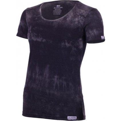Dámské merino triko LASTING Brena černá