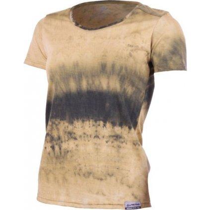 Dámské merino triko LASTING Bena žlutá