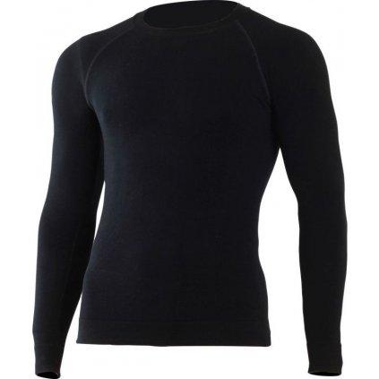Pánské merino triko LASTING Wolf černé