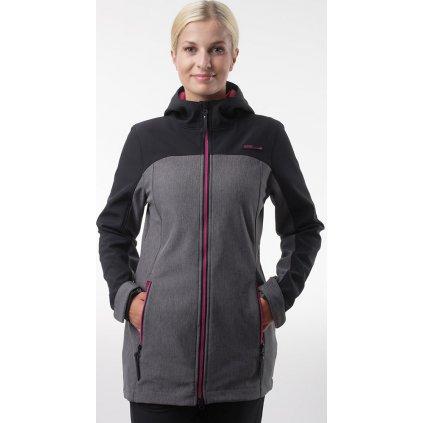 Dámský softshellový kabát LOAP Lyana černá/šedá