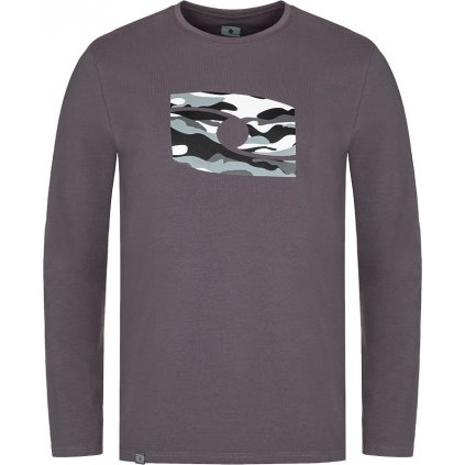 Pánské bavlněné triko LOAP Albe šedá