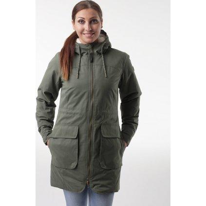 Dámský zimní kabát LOAP Natali khaki