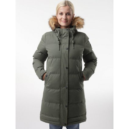 Dámský zimní kabát LOAP Nanna khaki