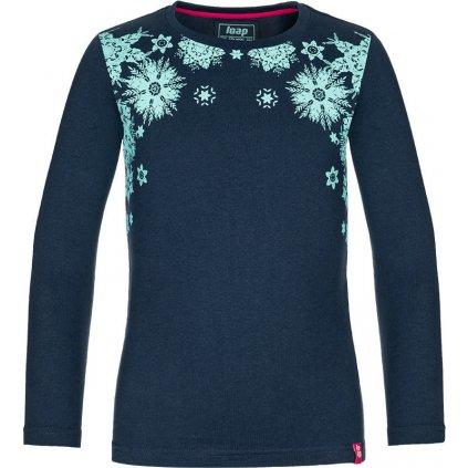 Dětské bavlněné triko LOAP Badonna modrá