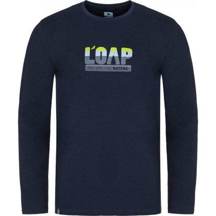 Pánské bavlněné triko LOAP Albi modrá
